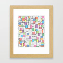 Pastel Stone Wall Framed Art Print