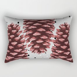 Three big Pinecone Winter Christmas  Rectangular Pillow