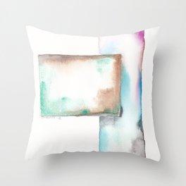 180914 Minimalist Geometric Watercolor 6 Throw Pillow