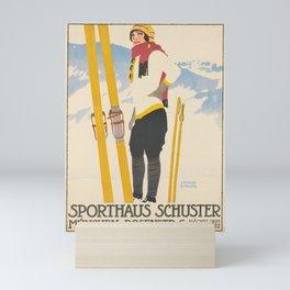 vintage Plakat sporthaus schuster. 1913 Mini Art Print