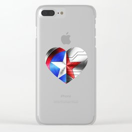Stucky heart until the end of the line Clear iPhone Case