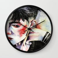 exo Wall Clocks featuring Kyungsoo by eteru
