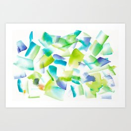 180719 Koh-I-Noor Watercolour Abstract 40| Watercolor Brush Strokes Art Print