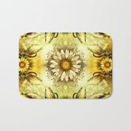 """Victorian Garden Spring Flowers"" Bath Mat"