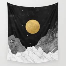 Moon and Stars Wall Tapestry