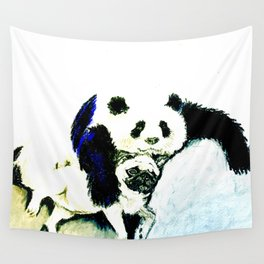 Pug and Panda after food Wall Tapestry
