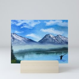 Fly Fish in the Mountains Mini Art Print
