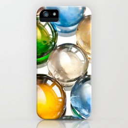 Glass balls marbles abstract iPhone Case