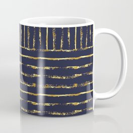 Midnight Blue with Golden Stripes Coffee Mug