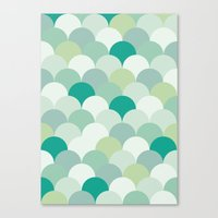 scales Canvas Prints featuring SCALES by Sarah Stark