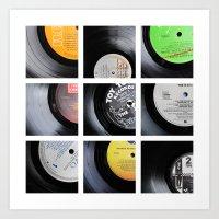 vinyl Art Prints featuring Vinyl by Kitsmumma