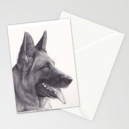 German Shepard Dog - Wildlife Animal Graphite Pencil drawing Artwork Pet Stationery Cards