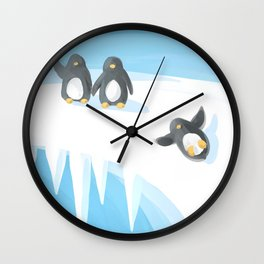 Penguin Playground Wall Clock