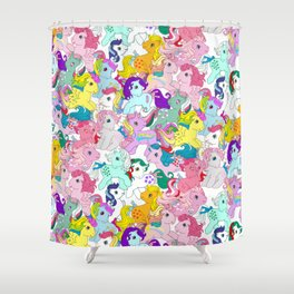 G1 my little pony pattern Shower Curtain