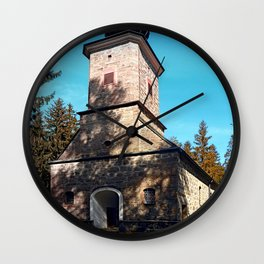 Maria Rast forest chapel | architecture photography Wall Clock