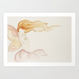 Butterfly Mama and Caterpillar Babe  Art Print