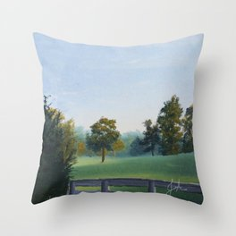 Country Morning in Tennessee Throw Pillow
