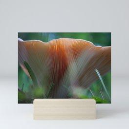 Under the Peach Mushroom Mini Art Print