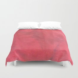 Muted Red Tie Dye Duvet Cover