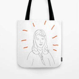 t0 sylvia plath Tote Bag
