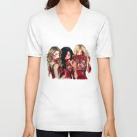glee V-neck T-shirts featuring unholiest by marziiporn