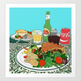 Scottish Beef Steak & Guinness Pie Art Print
