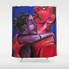 Father's Embrace Shower Curtain