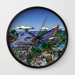 Southwest San Diego Wall Clock