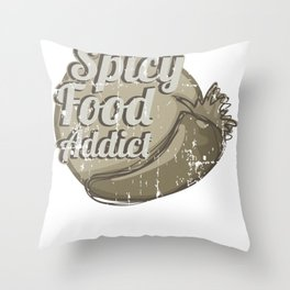 Hot Peppers Spicy Food Addict Throw Pillow