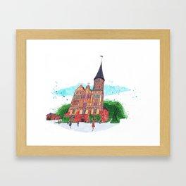 Konigsberg Cathedral, Kaliningrad Framed Art Print