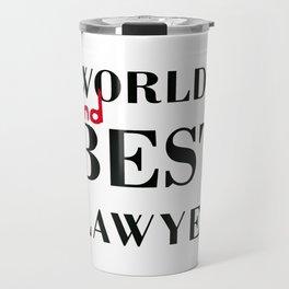 World's 2nd Best Lawyer - BCS Travel Mug