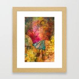 Dancing in the rain Framed Art Print