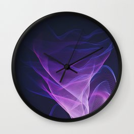 Out of the Blue - Pink, Blue and Ultra Violet Wall Clock