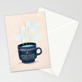 Tomaté una Taza de Positividad (Nubes) Stationery Cards