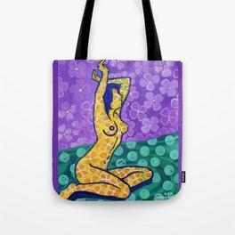 'Flower Goddess' Tote Bag