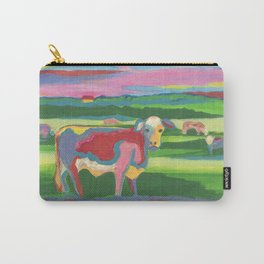 Psychedelic Cow Carry-All Pouch