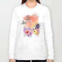 aloha Long Sleeve T-shirts featuring aloha by ulas okuyucu