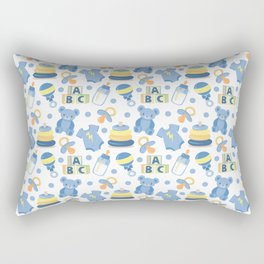 Baby Boy Pattern Rectangular Pillow