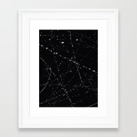 dazed and confused Framed Art Prints featuring Dazed + Confused [Black] by Galaxy Eyes