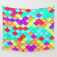 scales Wall Tapestries featuring Scales by White Wolf Wizard