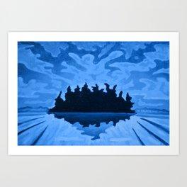 Isle of the Spirits  Art Print