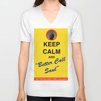 """better call saul V-neck T-shirts featuring Breaking Bad - Keep Calm and """"Better Call Saul"""" by lapinette"""