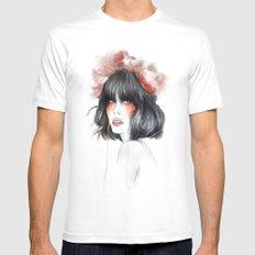 Flower Crown // Fashion Illustration White Mens Fitted Tee MEDIUM