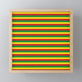 colorful rasta stripe pattern design Framed Mini Art Print