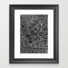 White/Black #3 Framed Art Print