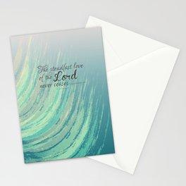 Steadfast Love Blue Bible Verse Art Stationery Cards