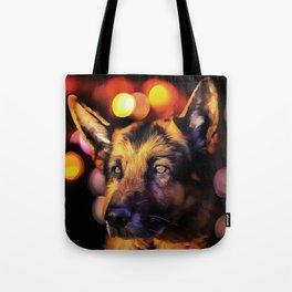 A German Shepherd. (Painting) Tote Bag