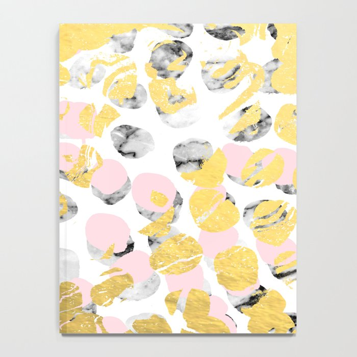 Stellan - Rose Marble Gold abstract art painting modern minimal love rosequartz pastel pink dorm Notebook