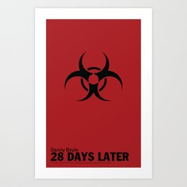 28 Days Later | Minimal Movie Poster Art Print
