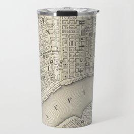 Vintage Map of New Orleans LA (1866) Travel Mug